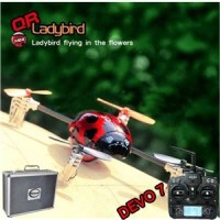 Walkera QR Ladybird with DEVO 7 7 CH RC Quadrocopter 2.4GHz RTF (Include Aluminium case)