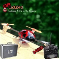 Walkera QR Ladybird with 2402D RC Quadrocopter 6-axis-Gyro mini 2.4GHz RTF (Include Aluminium case)