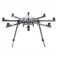 SkyKnight X8-1100 High Strength Carbon Fiber FPV Folding Octacopter Frame Kit+Landing Skid