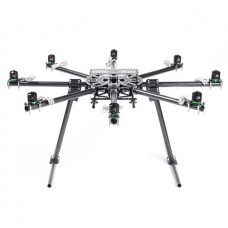 SkyKnight X8-1100 High Strength Carbon Fiber FPV Folding Octacopter Frame Kit+Landing Skid