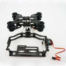 IDEA FLY 4S Two Axis Tilt/Pan Camera Mount FPV PTZ with 2 Servos