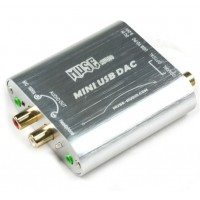MUSE Mini 24Bit 192Khz Coaxial Optical USB Input DAC Headphone Out-Silver