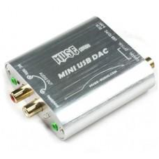 MUSE Mini 24Bit 192Khz Coaxial Optical USB Input DAC Headphone Out-Silver