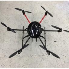 AQ-600 Carbon Fiber Hexacopter Frame 550mm FPV Multicopter Kit with Landing Skid