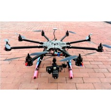 THB-8 1000mm Octacopter Frame 25mm Carbon Fiber 15kg Heavy-Duty FPV Multicopter/Aircraft Better than DJI S800