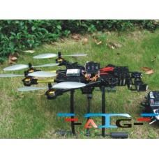 ATG TT-X4-12 12mm Align Multicopter Folding Quadcopter Frame Kit with Landing Skid