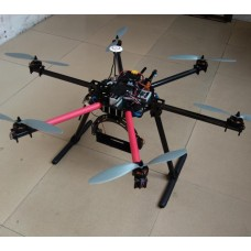 THB-PTZ 22mm Carbon Fiber Hexacopter Heavy-Duty FPV Multicopter/Aircraft Frame with Stable Landing Skid