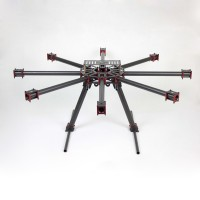 THB-X8 1000mm KK MK FF MWC 25mm Carbon Fiber Folding Hexacopter FPV Aircraft 18kg Flying Weight