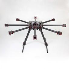 THB-X8 1000mm KK MK FF MWC 25mm Carbon Fiber Folding Hexacopter FPV Aircraft 18kg Flying Weight