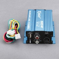 MA-150 2CH 500W CD USB MP3 Digital Player Motorcycle Car Stereo Audio Amplifier-Blue