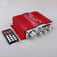 Kinter 25W*2 Car Power Amplifier USB SD CD FM MP4 Digital Player LED Display DC12V
