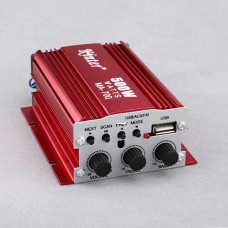 2CH 500W USB AUX FM MP3 Car Audio Power Amplifier Remote Control FM 87.5-108MHz