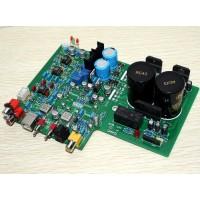 DAC1955 Decoder + LMLM3886 Amplifier Optical Fiber Coxial USB Decode Amp
