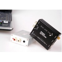 MUSE Mini USB DAC PCM2704 Sound Card Optical Coaxial Decoder USB to S/PDIF Converter-Black