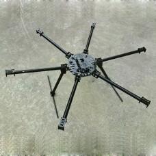 25mm Carbon Fiber Hexacopter Multicopter Frame Set Kit 1200mm Wheelbase FPV System