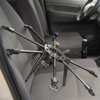 SkyFly-570 Photography FPV Carbon Fiber Octa-rotor Aircraft Mini Portable Octacopter Airframe Kit