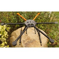 SkyFly-1000 Photography FPV Carbon Fiber Hexa-rotor Aircraft Folding Hexacopter Airframe Kit