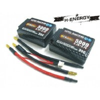 H-ENERGY 5000mAh 3.7V+3.7V 35C LiPo Battery