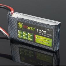 LION Power 7.4V 1300MAH 25C LiPo Battery BT684 for Multi-rotor Airplane