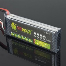 LION Power 7.4V 2200MAH 25C LiPo Battery BT689