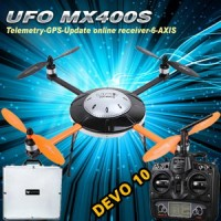 Walkera New UFO MX400S with DEVO 10 6-Axis Gyro Quadcopter RTF with Aluminum Case 2.4Ghz (Upgraded Version of MX400)
