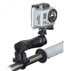 RAM Mount Hbar Rail Mount U-Bolt Standard Dbl Socket Arm 1 Inch Ball GoPro Adptor for All HD HERO Original