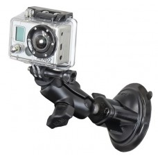 RAM-B-166-A-GOP1U: RAM Suction Cup windshied Mount w/ Custom GoPro Hero Adapter For All Gopro HD Cameras