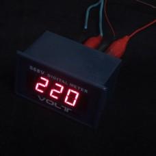 RED AC 0-600V/0-599V Digital Display LED Panel Voltage Meter Voltmeter 2PCS/lot