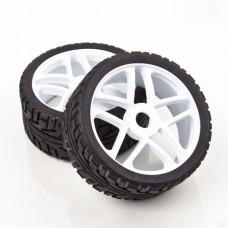 2pcs Rubber Sponge Racing RC Cars 1/8 Buggy Tyre Wheel Set Street