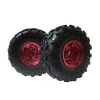 2pcs 1:10 Rubber Sponge Racing RC Cars Monster Bigfoot Tyre Wheel Set for RC Model