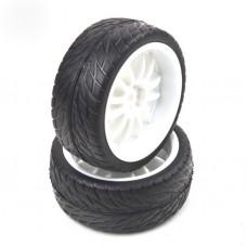 2pcs RC Rubber Sponge Liner Tires Tyre Wheel Rim 1:10 On Road Car