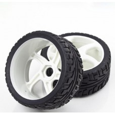 2pcs Rubber Sponge Racing RC Cars 1/8 Buggy Tyre Wheel Set for RC Model