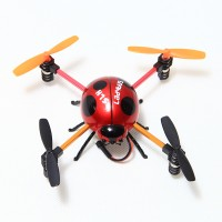 2.4G 4CH Ladybug Mini RC Quadcopter 6-Axis 3D UFO Aircraft Red with Transmitter