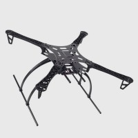 FC Z550-V6 Copter Frame Quadcopter Airframe Fiber Glass 550mm Wheelbase MultiCopter Tall Landing Skid Gear Stand Kit Anti-Vibration for PTZ
