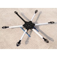 KK MK SIX600 Hexacopter Folding Frame Aircraft Multi RC Heli Fiber Glass 600mm Wheelbase