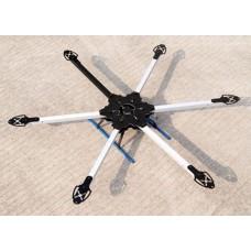 KK MK SIX600 Hexacopter Folding Frame Aircraft Multi RC Heli Fiber Glass 600mm Wheelbase
