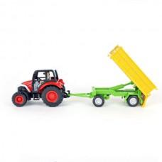 4109-02 1:43 Scale Farm Tractor with Flatcar Wagon