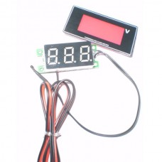 "1.2"" LCD Digital Thermometer + Voltmeter Voltage Meter for Vehicle Car"