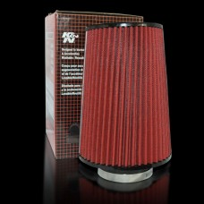 High Flow Universal Air Filter for Car Red + Black