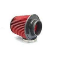 Universal Super Power Flow Stainless Steel Air Filter for Car Red + Black