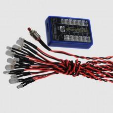4.8-6V 12-LED R/C RC Car Flashing Smart LED Light System Version 2 L.E.D. Flash