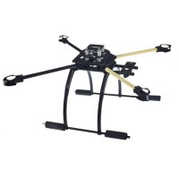 ATG L600 X4 Quadcopter Fiber Glass 600mm Folding Frame with Tall Landing Skid