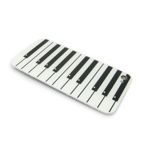 Piano Keyboard Design Chrome Hard Case Back Cover for iphone 4g 4G
