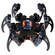 Arduino Alumin Hexapod Spider Six 3DOF Legs Robot with 18 Servos + 32 Channel Servo Controller Board