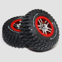 2-Pack Traxxas 1/10 Slash 4x4 BF Goodrich Tires & Wheels 4wd 2wd Stampede Blitz for SLASH4X4