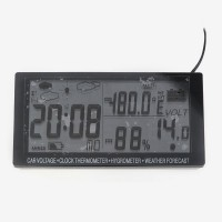 EC60 Car Voltage Hygrometer Thermometer Weather Forecast Multi-function Meter