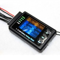 BVM-8s 1-8 cells Battery Voltage Meter tester Alarm for Lilon/LiPo/LiFe/NiCd/NiM