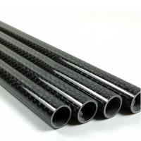 Carbon Fiber Tube 3K Twill 12mm Dirmeter 250mm 4-Pack for Quadcopter Multicoptor