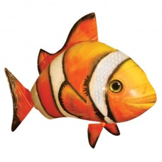 Cool 2-CH Remote Control Flying Clown Fish Air Swimmer - Orange