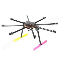 SkyKnight X8-1100 25mm Pure Carbon Fiber DSLR FPV Octacopter Folding Multicopter Frame Kit+Landing Skid